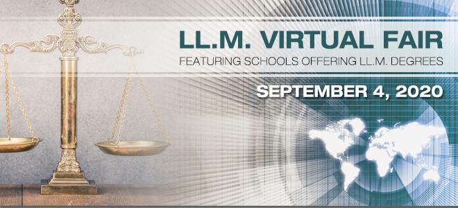 Master of Laws (LL.M.) Virtual Fair Banner