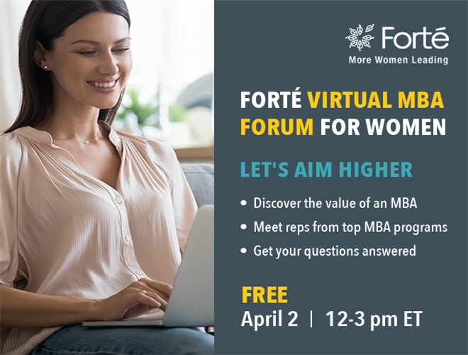 Forté Virtual MBA Forum Banner