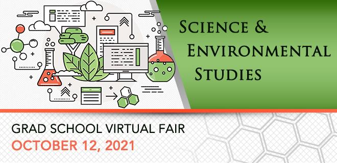 Science & Environmental Studies Graduate School Virtual Fair Banner