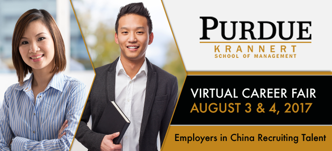 Purdue Krannert Virtual Career Fair Banner