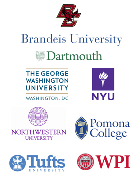 Event Sponsored by Boston College, Brandeis, Dartmouth, GWU, NYU, Northwestern, Pomona College, Tufts, and WPI