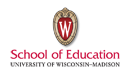 University of Wisconsin-Madison School of Education Logo - click to go to school's website