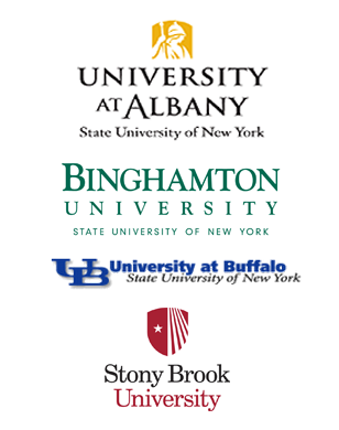 Host Schools - University at Albany, Binghamton University, Stony Brook University, and University at Buffalo