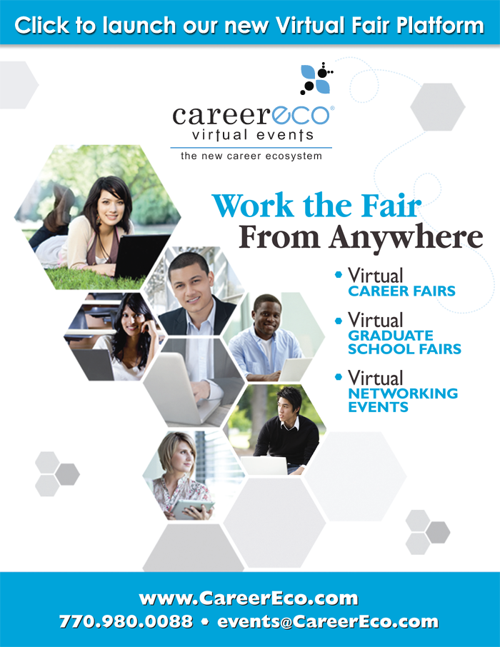Click to launch CareerEco's new Virtual Fair platform