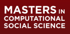 Masters in Computational Social Science logo - click to open web site