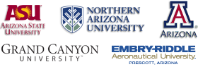Event sponsored by ASU, Embry Riddle-Prescott, GCU, NAU, and UA